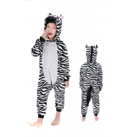 animal kigurumi black white Zebra onesie pajamas for kids