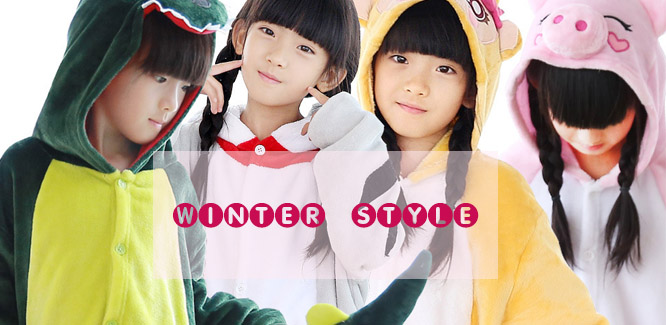Kids Kigurumi Winter Onesies