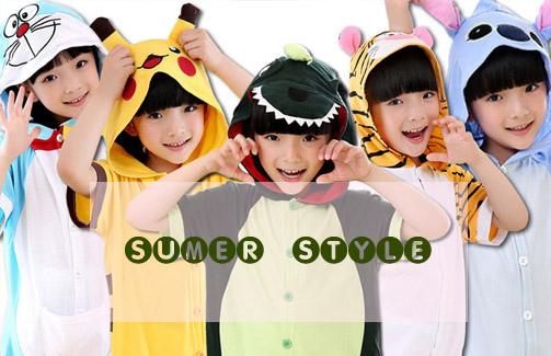 Kids Kigurumi Summer Onesies