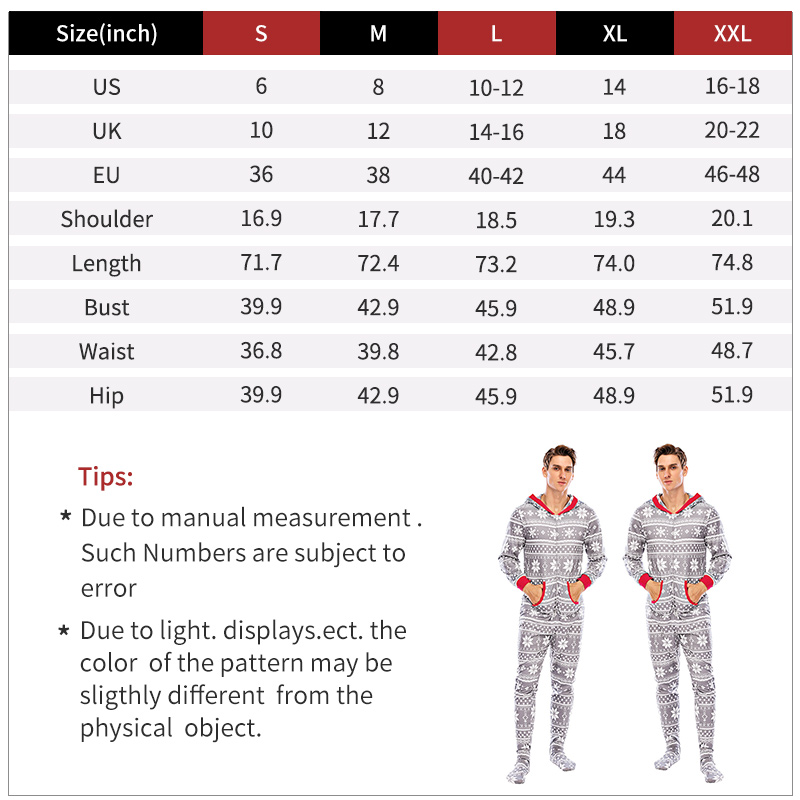 adult onesies size chart