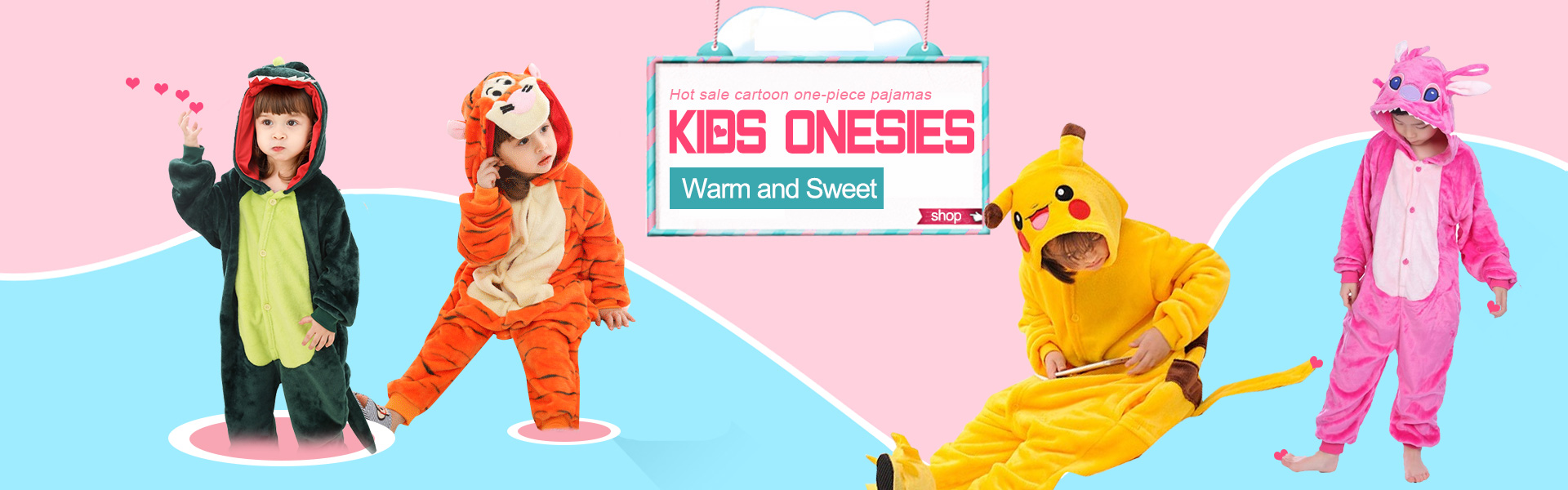 Safe and Comfortable kids kigurumi onesie pajamas with fast shipping.