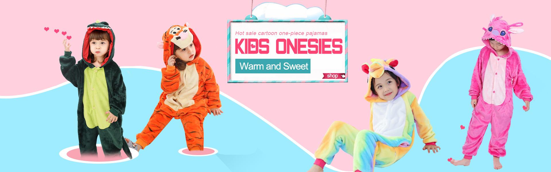 Safe and Comfortable kids kigurumi onesie pajamas with fast shipping.